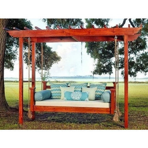 The Elegant Charleston Porch Swing Bed Omnia Home Store