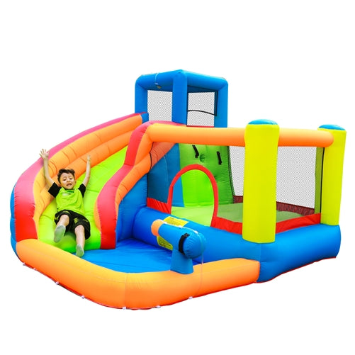 Inflatable Bounce House with Water Sprayer and Splash Pool