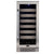 Whynter Elite 33 Bottle Seamless Stainless Steel Door Single Zone Built-in Wine Refrigerator   BWR-331SL - Swings and More