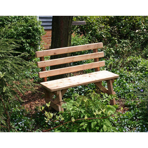 Creekvine Designs Cedar Backed Bench - Swings and More