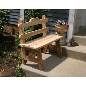 Creekvine Designs Cedar Tab Back Bench - Swings and More