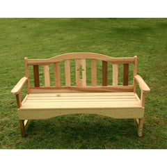 Creekvine Designs Cedar Holy Cross Garden Bench