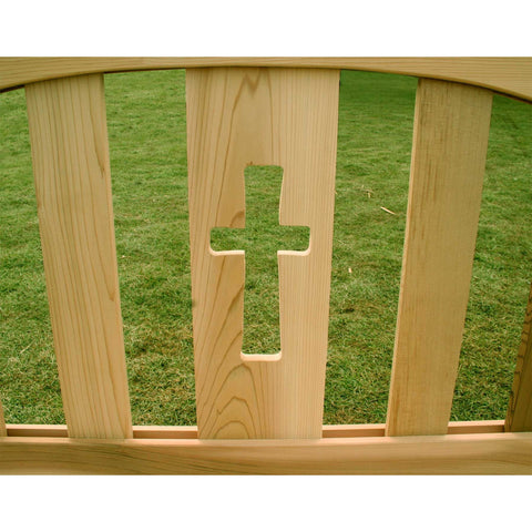 Creekvine Designs Cedar Holy Cross Garden Bench - Swings and More