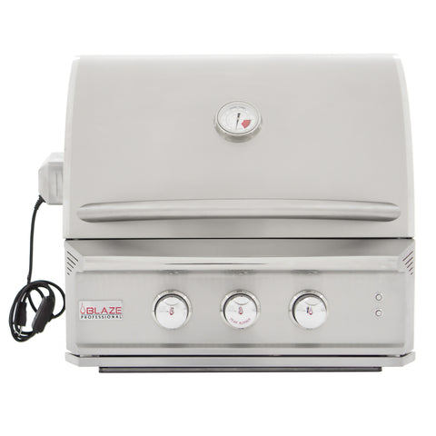 Blaze 27 Inch 2 Burner Professional Built-In Natural Gas Grill - Swings and More