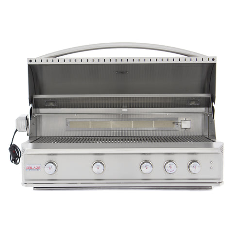 Blaze 44 Inch 4 Burner Professional Built-In Propane Gas Grill - Swings and More