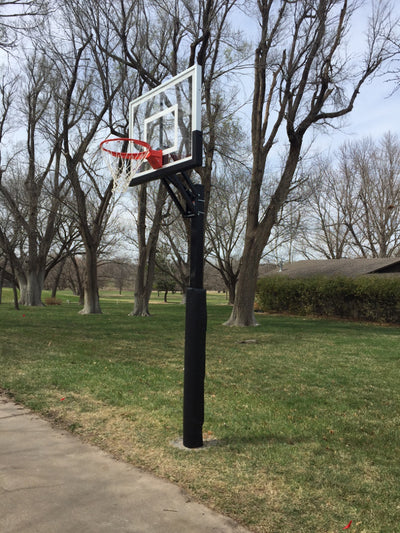 "First Team Champ Eclipse BP In Ground Adjustable Basketball Hoop 36""x 60"""