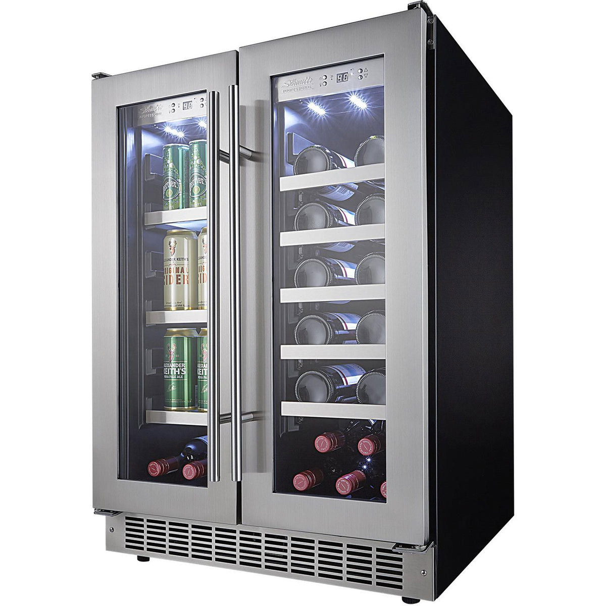 "Danby Silhouette Professional Lorraine 24"" French Door Beverage Center - Swings and More"