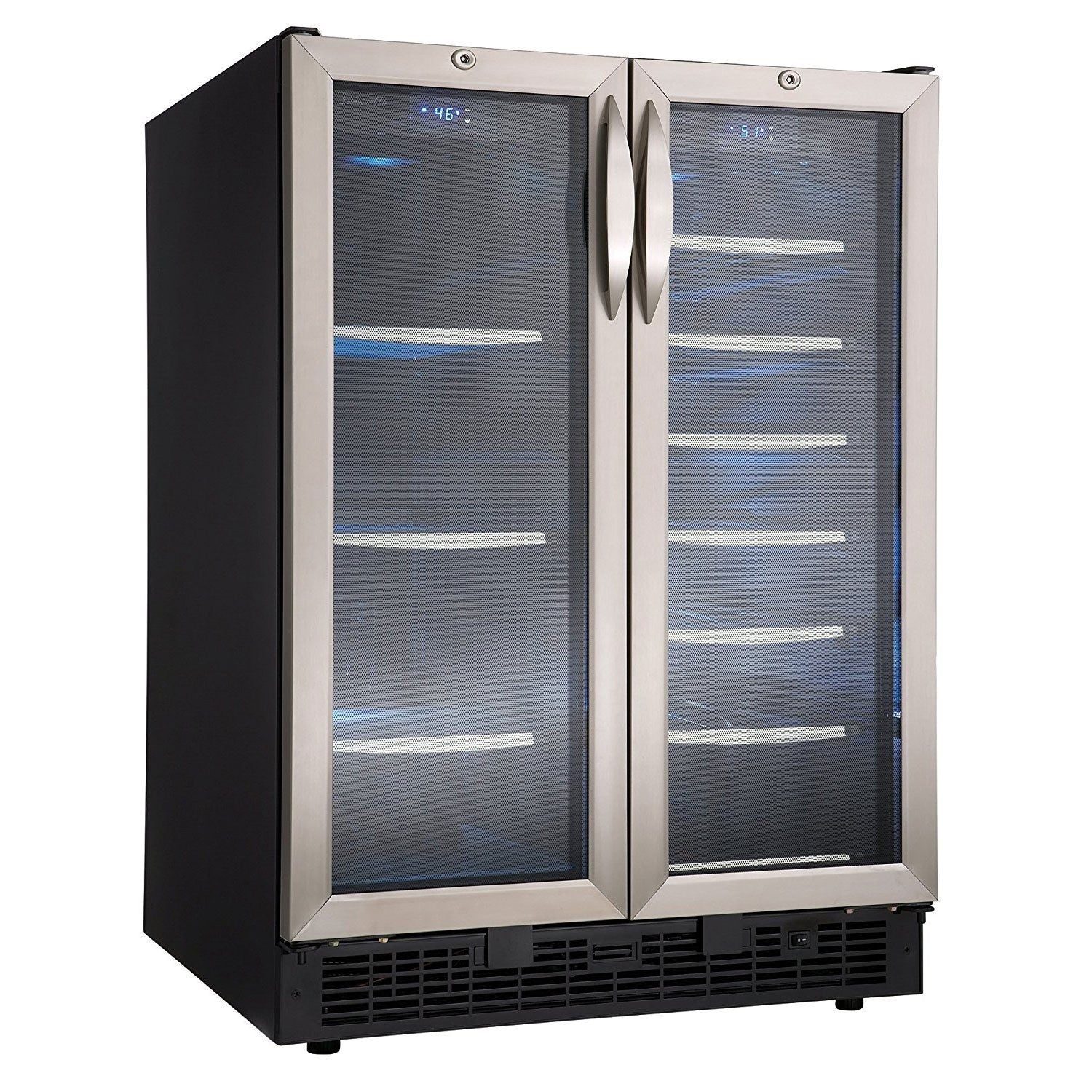 Danby Silhouette Emmental Built-In 27-Bottle, 60-Can Dual Zone Beverage Center - Swings and More