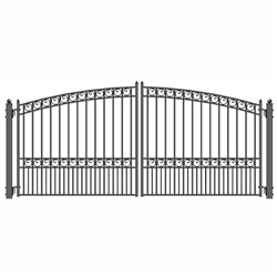 Dual Swing Driveway Gate - PARIS Style - 12 x 6 Feet - Steel - Swings and More