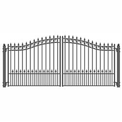 Dual Swing Driveway Gate - PRAGUE Style - 12 x 6 Feet - Steel - Swings and More