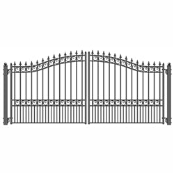 Dual Swing Driveway Gate - LONDON Style - 14 x 6 Feet - Steel - Swings and More