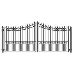Dual Swing Driveway Gate - MOSCOW Style - 12 x 6 Feet - Steel - Swings and More
