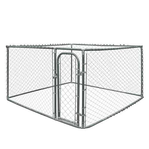 DIY Chain Link Dog Kennel - 7.5 x 7.5 x 4 Feet - Swings and More