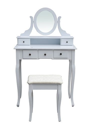 Bedroom Vanity Dressing Table Set with Mirror and Stool - Swings and More