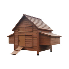 Aleko Multi Level Wooden Chicken Coop or Rabbit Hutch - Red