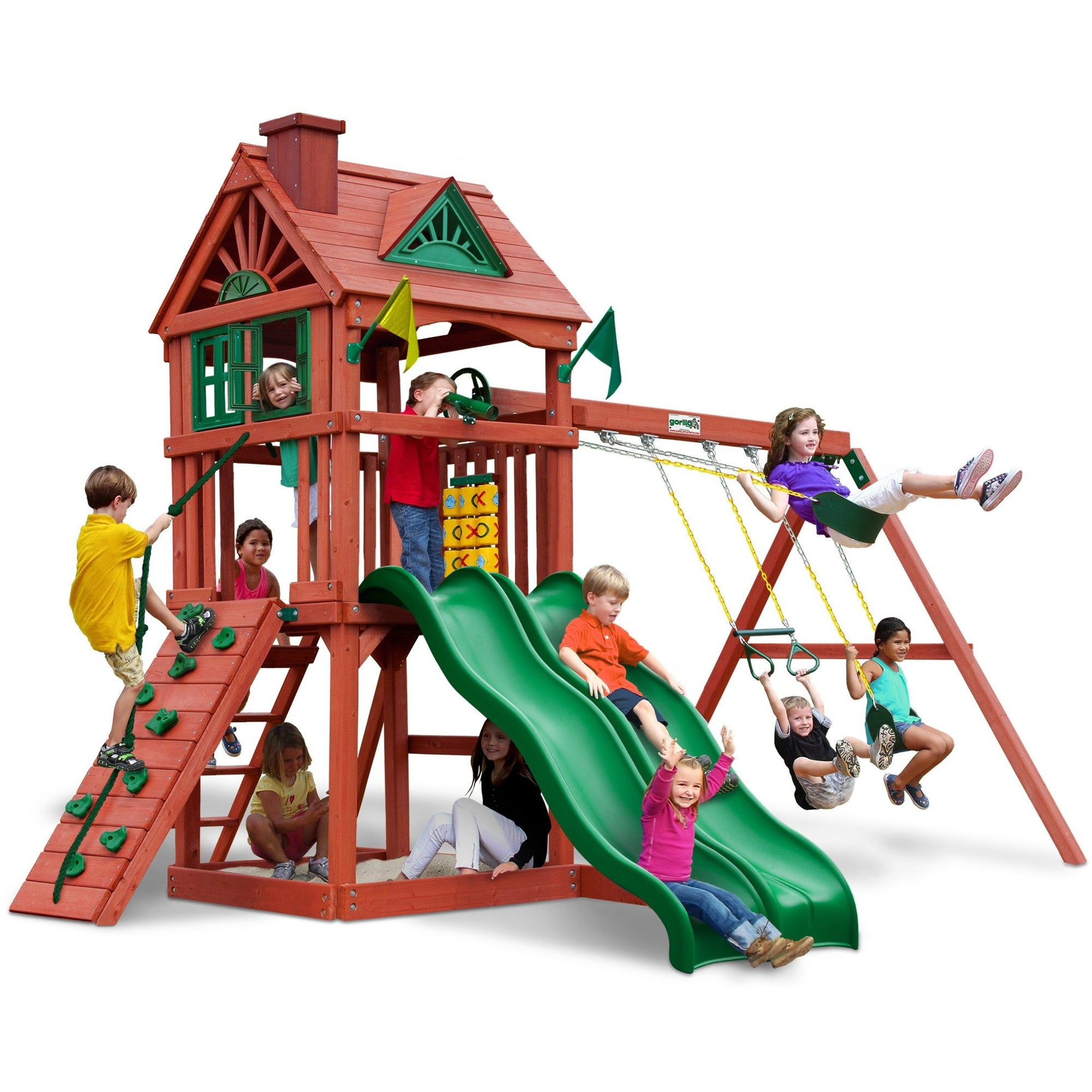 Double Down Gorilla Playset 01-0036 - Swings and More