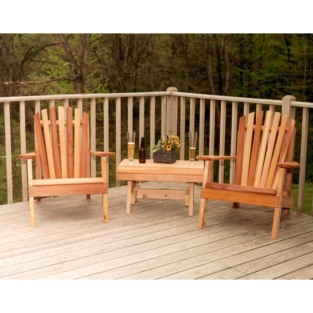 Creekvine Designs Cedar American Forest Adirondack Chair Collection - Swings and More