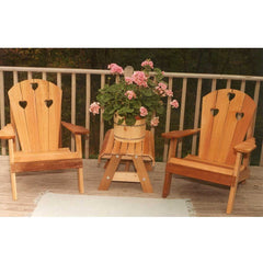 Creekvine Designs Cedar Country Hearts Adirondack Chair Collection - Swings and More