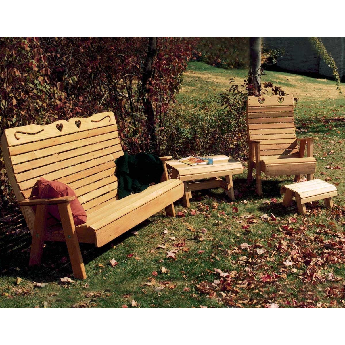 Creekvine Designs Cedar Royal Outdoor Patio Set - Swings and More
