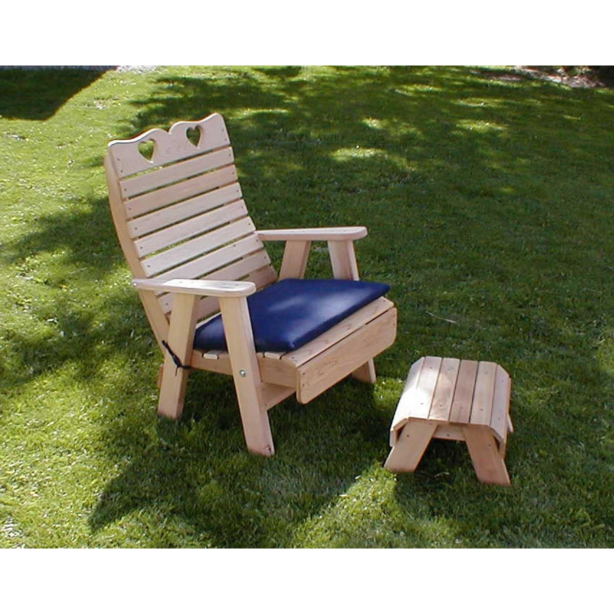 Creekvine Designs Cedar Patio Chair & Footrest Set - Swings and More