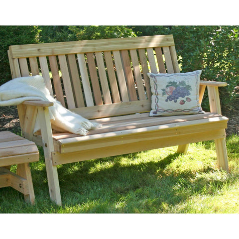 Creekvine Dedigns Cedar Countryside Garden Bench - Swings and More