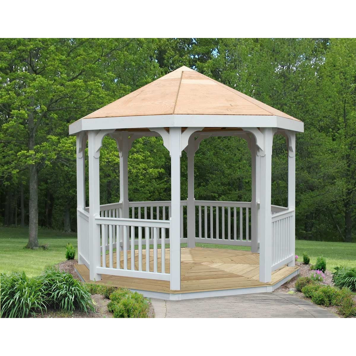 Creekvine Designs 10' Vinyl Gazebo - Swings and More
