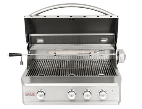 Blaze Professional 34-Inch Built-In Propane Gas With Rear Infrared Burner - Swings and More
