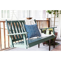 Dixieseating Corolla Porch Swing - 4 Ft Straight Slat Seat
