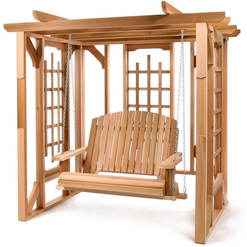 Pergola Swing Set All Things Cedar - Swings and More
