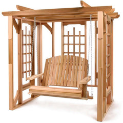 All Things Cedar Pergola Swing Set - Swings and More