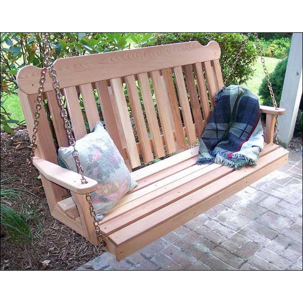 Cedar Classic Porch Swing by Creekvine Designs - Swings and More