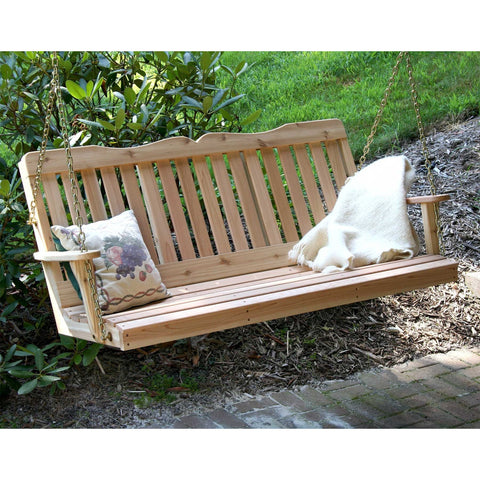 Creekvine Desings Cedar Countryside Porch Swing - Swings and More