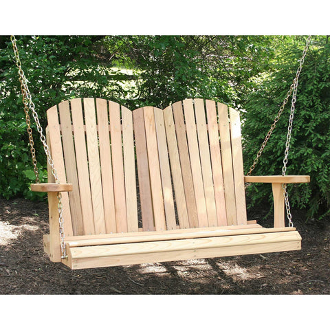 Creekvine Designs Cedar Adirondack Porch Swing - Swings and More