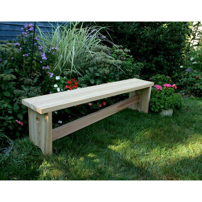 Creekvine Designs 5' Cedar 1800 Traditional Bench w/ Slant Brace - Swings and More