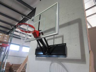 "First Team Uni-Champ II Wall Mount Adjustable Basketball Hoop 36""x 48"""