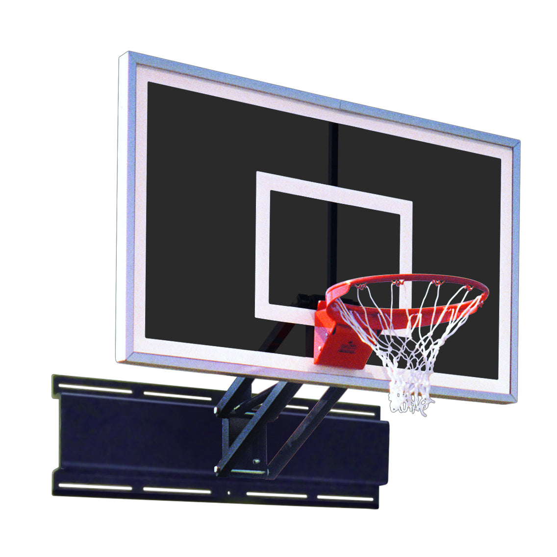 "Team Uni-Champ Eclipse Wall Mount Adjustable Basketball Hoop 36""x 60"""