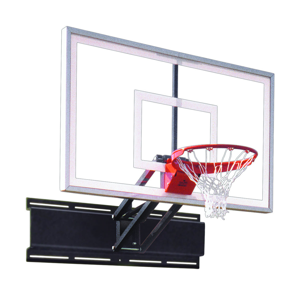 "First Team Uni-Champ Turbo Wall Mount Adjustable Basketball Hoop 36""x 54"""