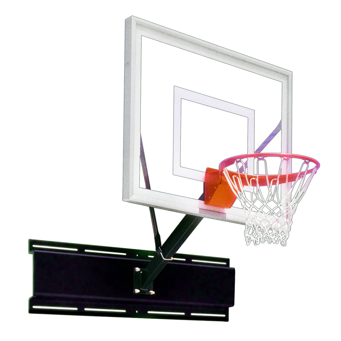 "First Team Uni-Sport III Wall Mount Basketball Hoop 36""x 54"""
