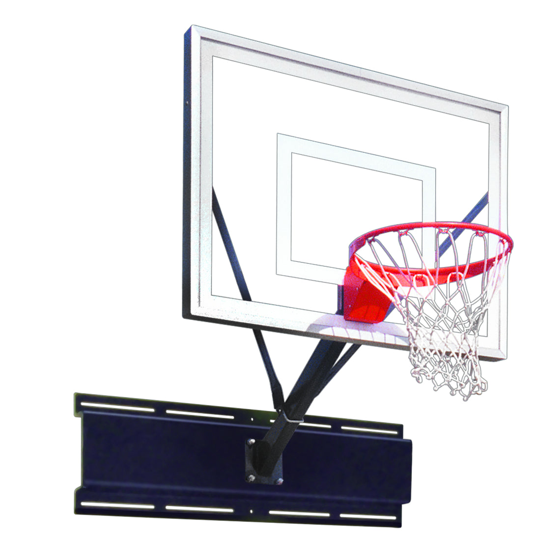 "First Team Uni-Sport II Wall Mount Basketball Hoop 36""x 48"""