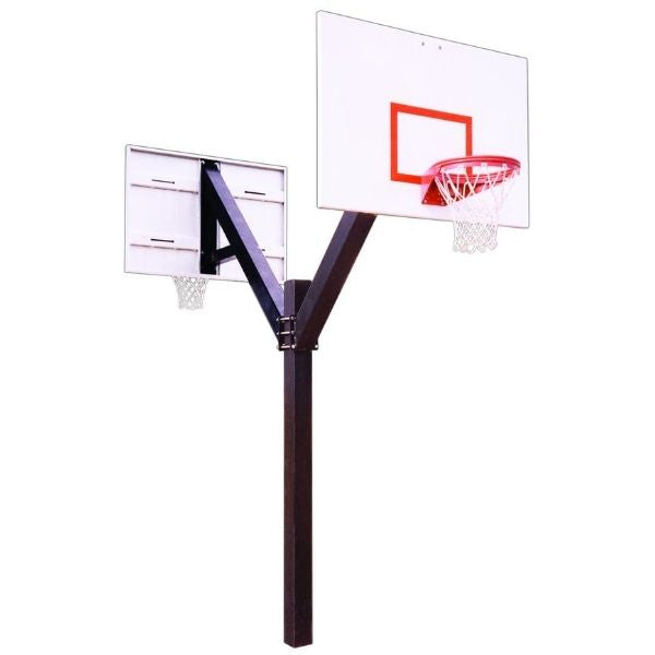 First Team Legend Playground Dual Fixed Height Basketball Hoop