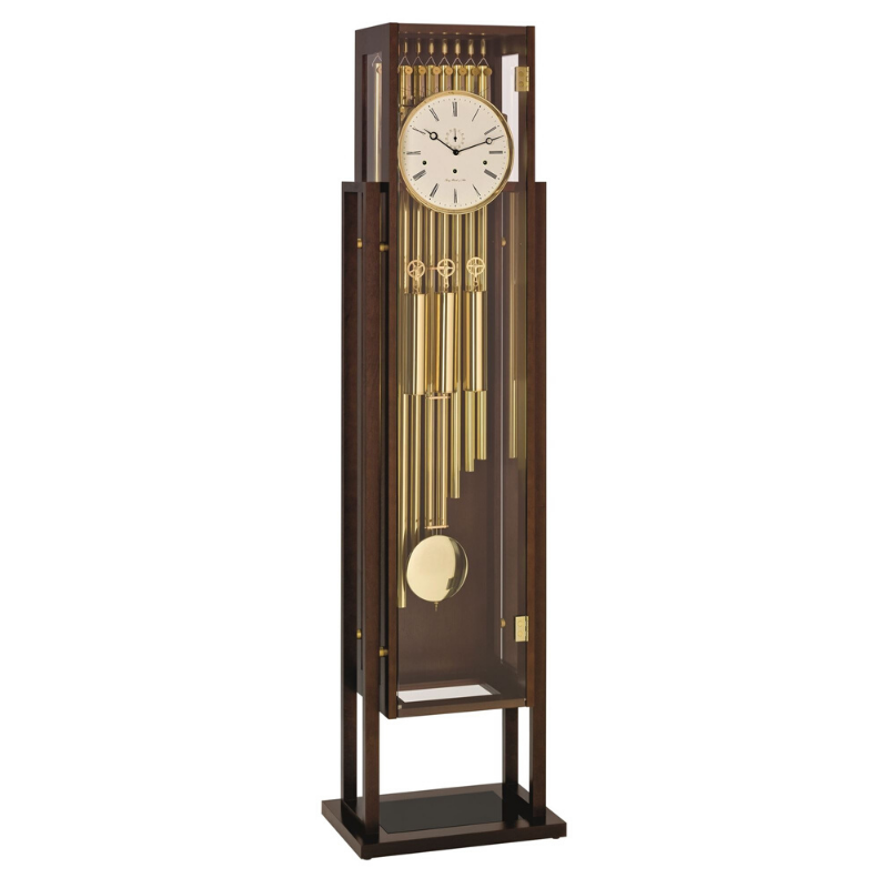 Hermle Essex Grandfather Clock Walnut Finish
