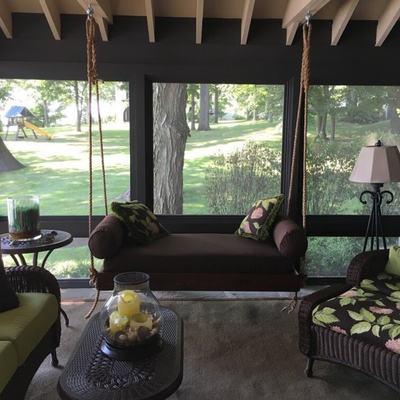 The Carolina Wonderful Wadmalaw Island Porch Swing Bed