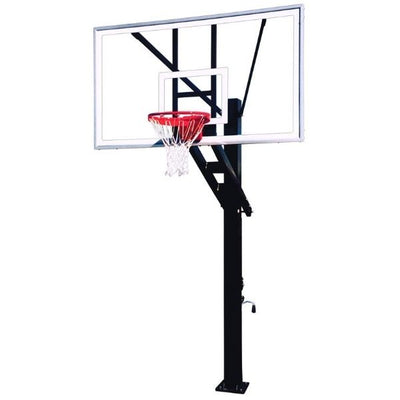 First Team Olympian Supreme In Ground Adjustable Basketball Hoop