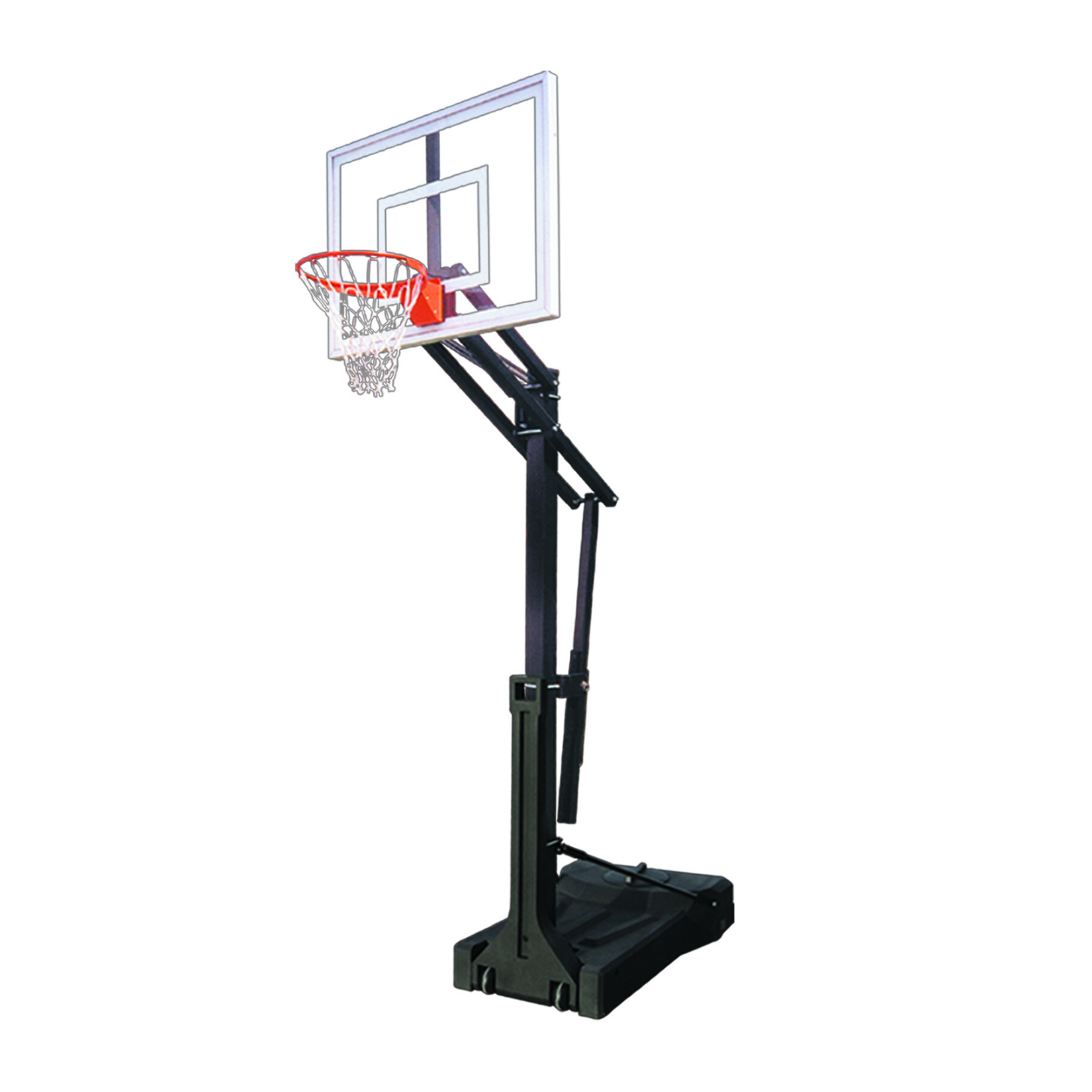 "First Team OmniSlam II Portable Adjustable Basketball Hoop 36""x48"""