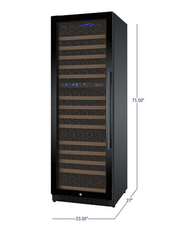 Allavino FlexCount Series 172 Bottle Dual Zone Wine Refrigerator with Black Door & Left Hinge - Swings and More