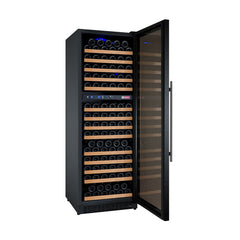 Allavino FlexCount Series 172 Bottle Dual Zone Wine Refrigerator with Black Door & Right Hinge