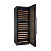 Image of Allavino FlexCount Series 172 Bottle Dual Zone Wine Refrigerator with Black Door & Right Hinge - Swings and More