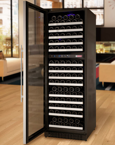 Allavino FlexCount Series 172 Bottle Dual Zone Wine Refrigerator with Left Hinge VSWR172-2SSLN - Swings and More