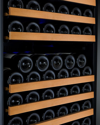 Allavino FlexCount Series 177 Bottle Single Zone Wine Refrigerator with Black Door & Right Hinge - Swings and More