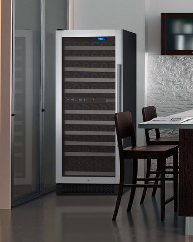 Allavino FlexCount Series 121 Bottle Dual Zone Wine Refrigerator with Left Hinge - Swings and More